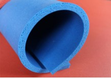 Blue Color Silicone Rubber Foam
