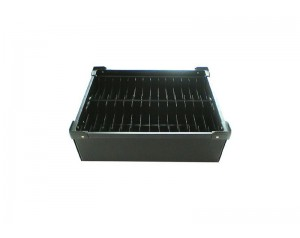 Black anti static plastic ESD box